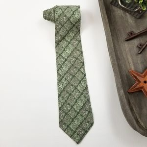 Valentino different shades of green mens neck tie